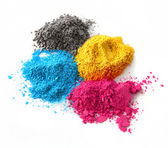Color powder cmyk — Stock Photo