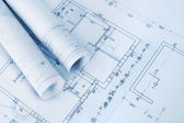 Construction plan blueprints — Stock Photo