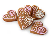 Heart shape ginger breads — Stock Photo