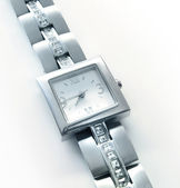 Silver wrist watch — Stock Photo