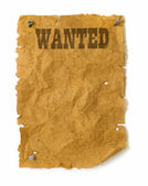 Wild west Wanted poster — Stock Photo