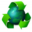 Earth recycling concept — Stock Photo #9352372