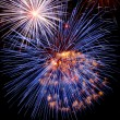 Fireworks red-white-blue — Stock Photo