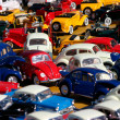 Miniature cars jam - Stock Photo