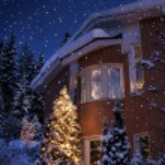 Christmas house — Stock Photo #9354680