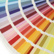 Color chart fan v — Stock Photo