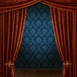 Grand opening curtains — Stock Photo #9354920
