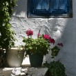 Greek window — Stock Photo