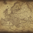 Ancient map of Europe — Stock Photo