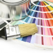 Stock Photo: Paint color swatches