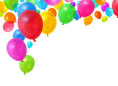 Party balloons flying — Stock Photo