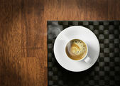 Steaming hot espresso — Stock Photo