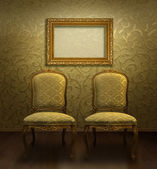 Classic chair and frame — Stock Photo