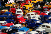 Miniature cars jam — Stockfoto