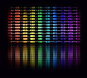 Color equalizer — Stock Photo