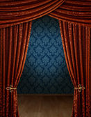 Grand opening curtains — Stock Photo