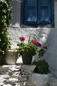 Greek window — Stock Photo