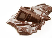Melting chocolate bar — Stock Photo
