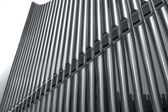 Organ pipes perspective — Stock Photo