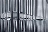 Organ pipes close — Stock Photo