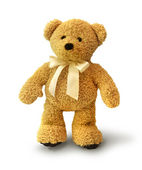 Walking teddy bear — Stock Photo