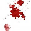 Blood stains and fingerprint — Stock Photo #9388393