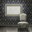 Classic chair and silver frame — Stock Photo #9388446