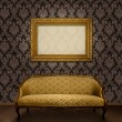 Classic sofa and frame — Stock Photo