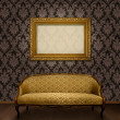 Royalty-Free Stock Photo: Classic sofa and frame