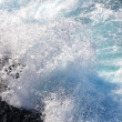 Fresh blue white surf - Stock Photo