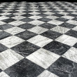 Black et white marble floor — Stock Photo