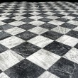 Stock Photo: Black et white marble floor