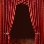 Crimson red theatre curtains — Stock Photo