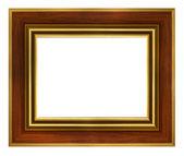 классические деревянные золотая рамка — Стоковое фото