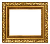 Decorated gold plated frame — Stock Photo
