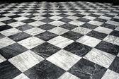 Black et white marble floor — Stock Photo