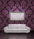 Modern sofa and frame — Stock Photo
