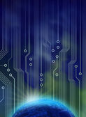 New tech dawn — Stock Photo