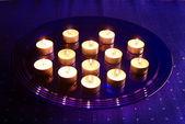 Small Christmas candles — Stock Photo