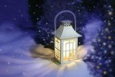 White Christmas lantern — Stock Photo
