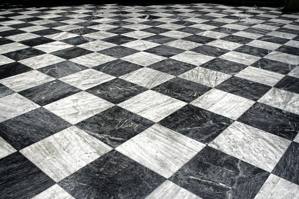 Negro y piso de m rmol blanco foto de stock anterovium for Marmol blanco y negro