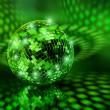 Green disco ball globe — Stock Photo