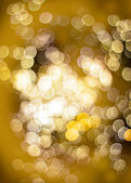 Golden bokeh light effect — Stock Photo