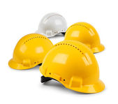 Four hard hat team — Stock Photo