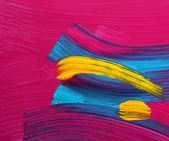 Bright colors paint strokes art — Stock Photo