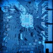 Circuit board closeup background — Stock Photo