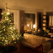 Christmas tree in modern living room — Stock Photo #9752654