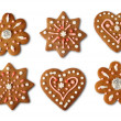 Christmas cookie gingerbreads — Stock Photo