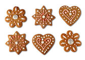 Christmas cookie gingerbreads — 图库照片