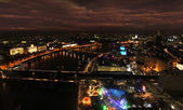 London Thames night panorama — Stock Photo